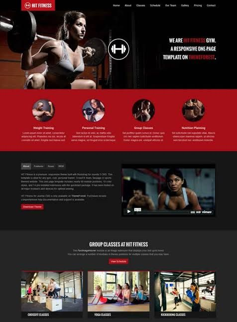 Responsive #Gym #Fitness Website Design and Development with WordPress. Personal Fitness Trainer Wor...