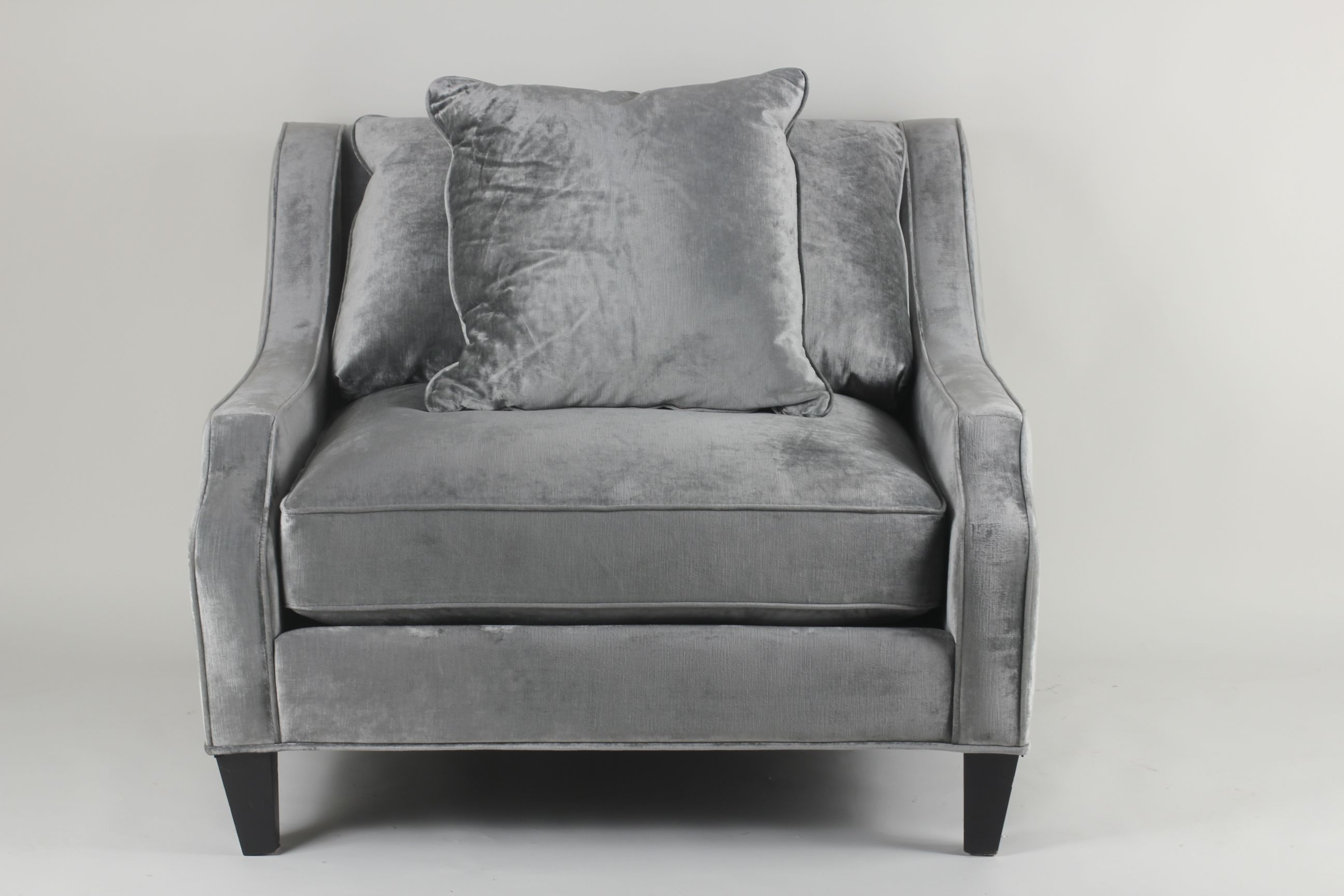 Silver Grey Velvet | Gray Velvet Sofa Chair