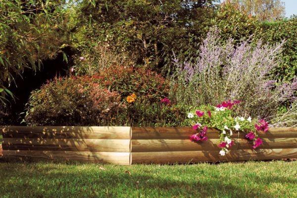 bordurette en bois bordure traverse bois am nagement. Black Bedroom Furniture Sets. Home Design Ideas