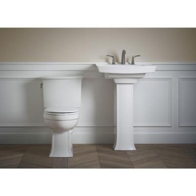 KOHLER Archer Pedestal Combo Bathroom Sink In White K 2359 8 0   The Home  Depot