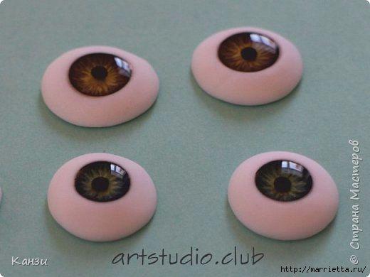 Глаза для куклы своими руками 992