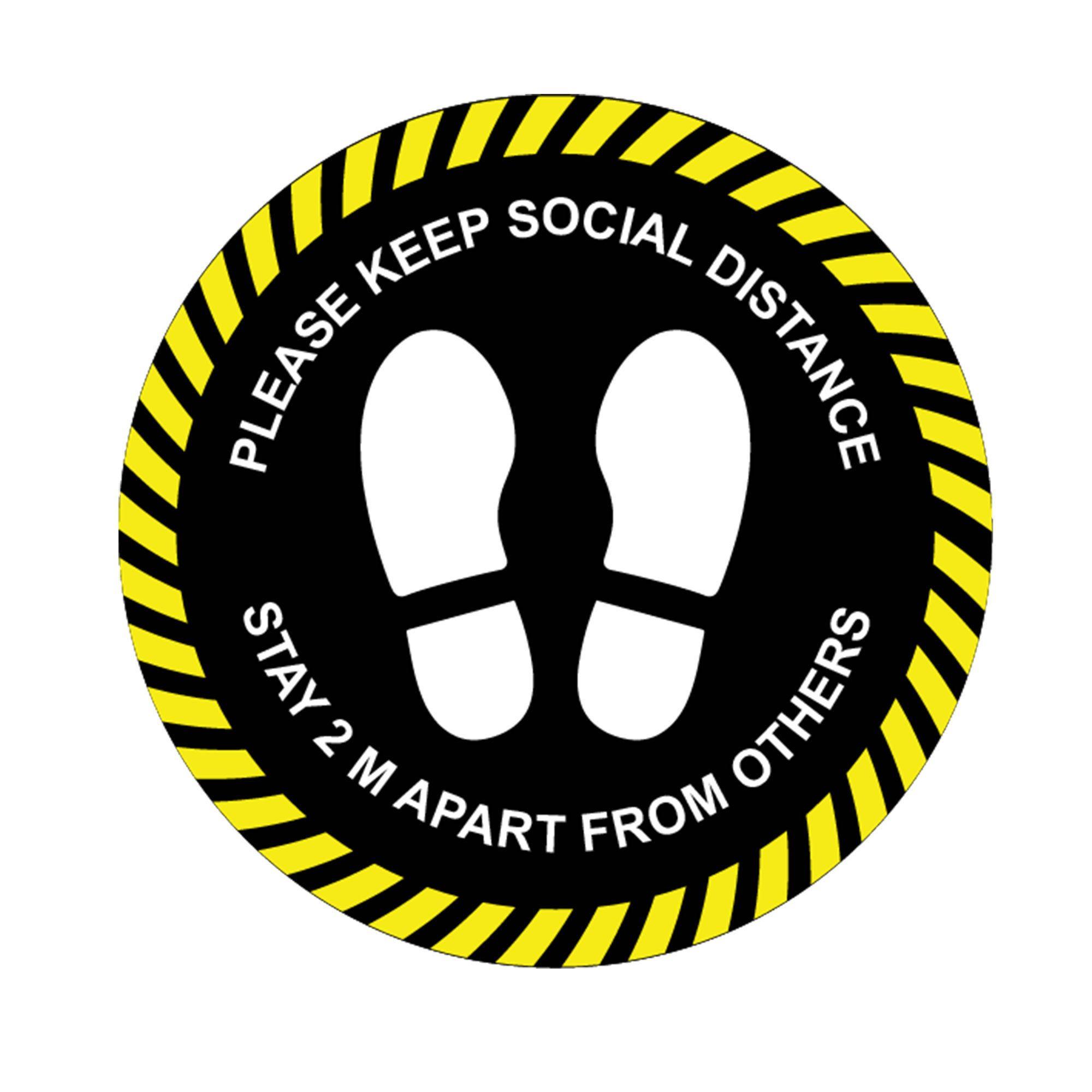 Social distance stickers, Vinyl floor decals, Self