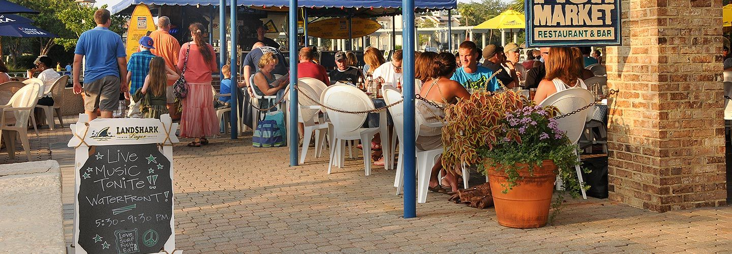Outdoor Dining Area Festival On Thursday Nights