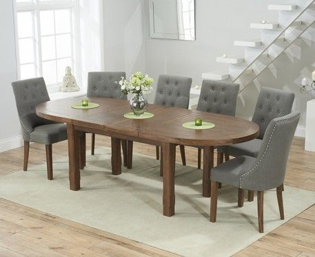 Buy The Chelsea Dark Oak Extending Dining Table With Pacific
