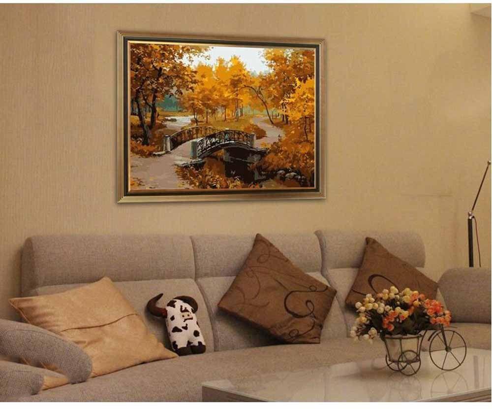 Картина по номерам «Золотая осень»   Картины, Краска ...