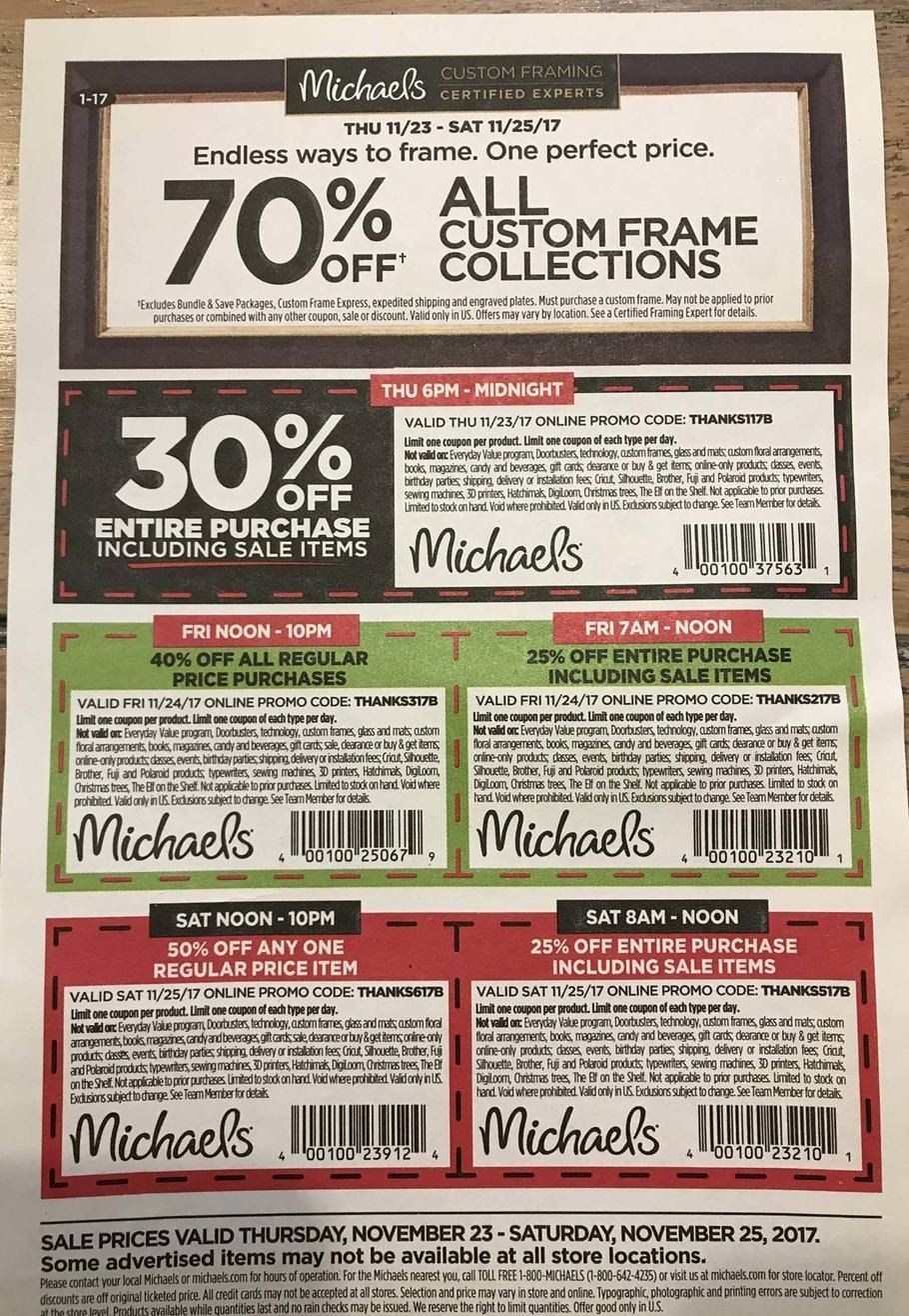 Michaels Black Friday 2017 Ads and Deals If you\'re an artist ...