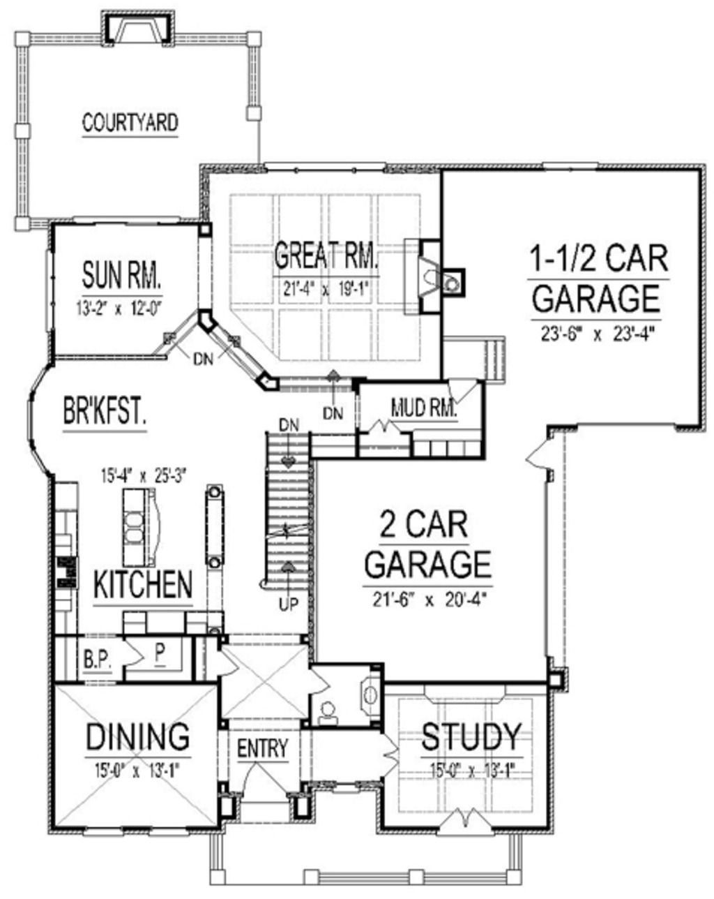 Plan 458 17 love it no turret but very nice use of space Love
