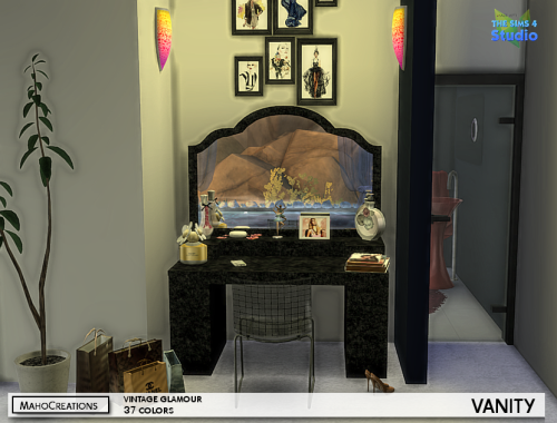 Vintage Glamour Mesh Edit Requires This Pack For Mahocreations Sims 4 Bedroom Vintage Glamour Room