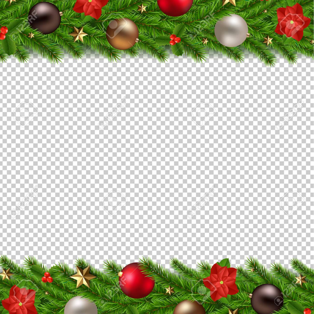 Christmas Garland Isolated Transparent Background With Gradient Christmas Garland Christmas Vectors Transparent Background
