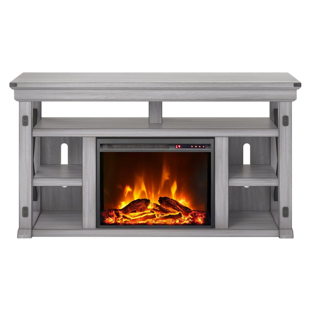 Hathaway Fireplace Tv Stand For Tvs Up To 60 Wide Rustic White