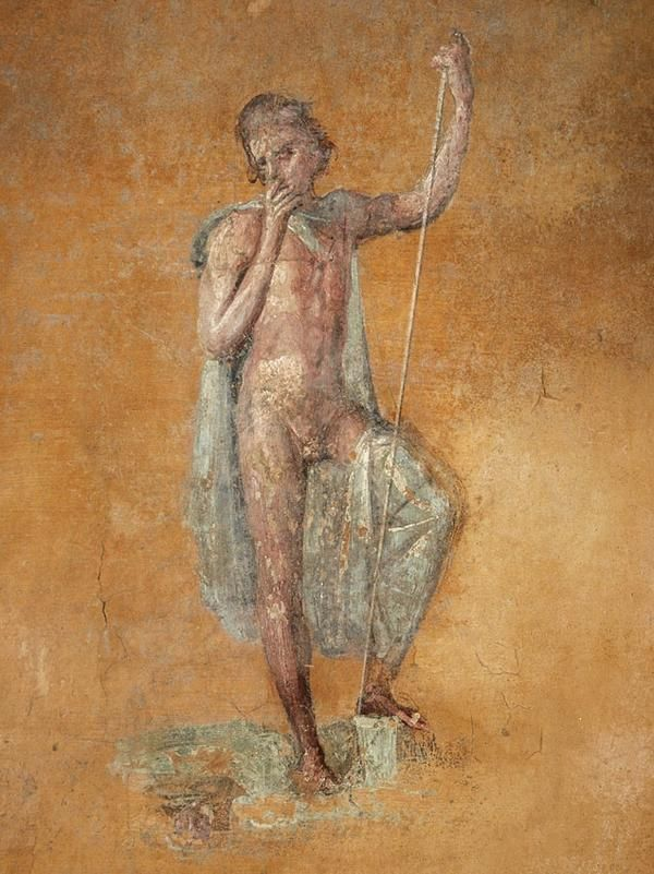"Pompeii - The APP sur Twitter : ""Narcissus. #Fresco from the House of the Trojan Sacellum. #Pompeii #archaeology http://t.co/6HDzRl0KSm"""