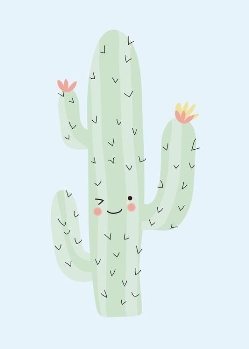 Pin By Frances E On Loveliegreenie Timbir Cactus Cute Wallpapers Prints