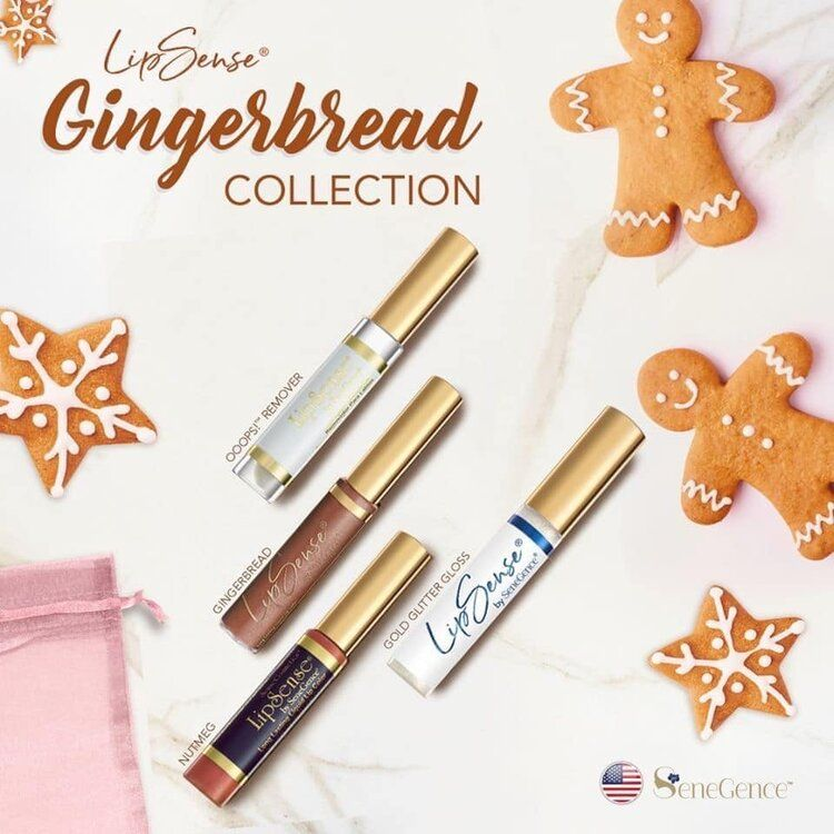 Gingerbread Lipsense Collection — FEARLESS BEAUTY by Rochelle Valle