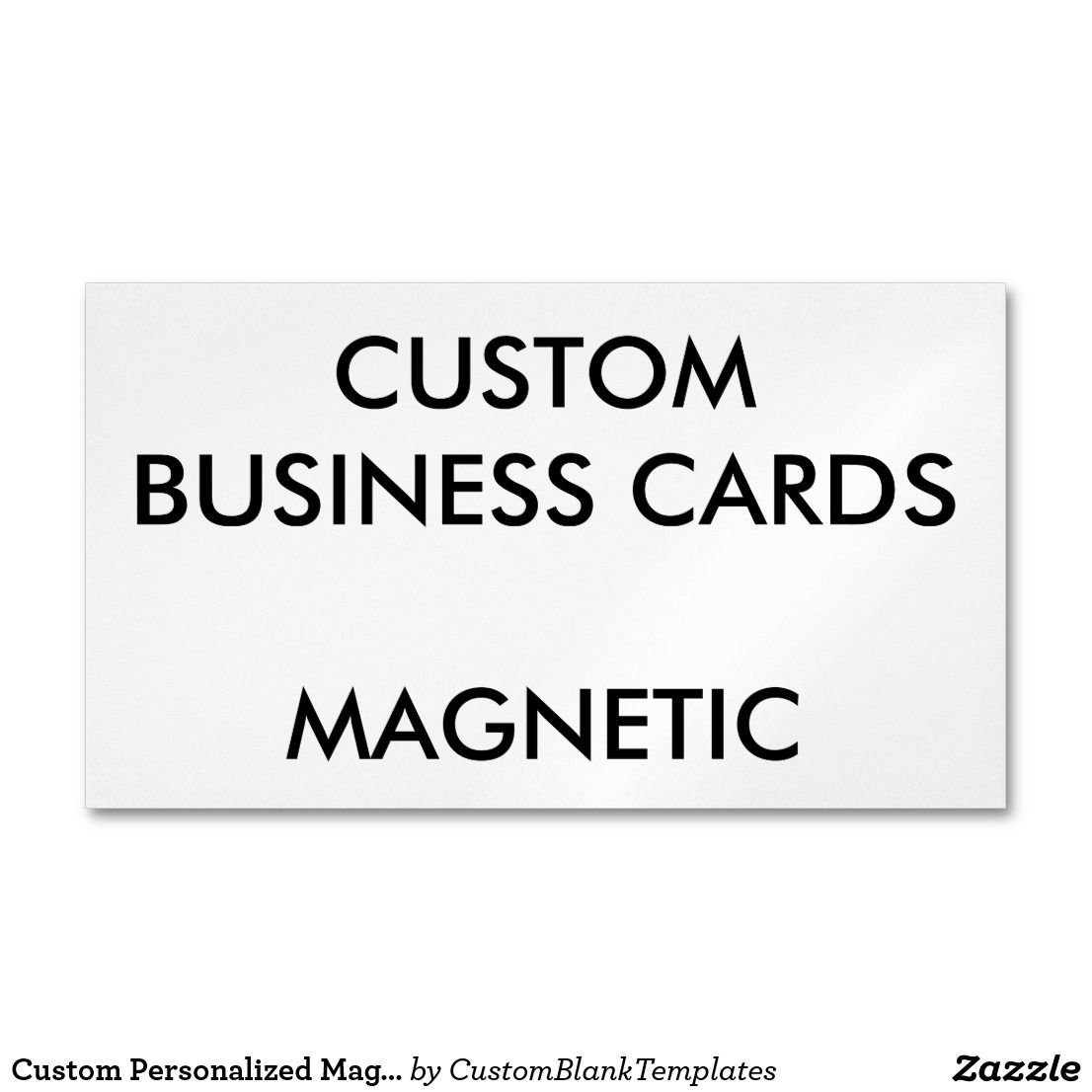 Custom Personalized Magnetic Business Cards Blank | Custom ...