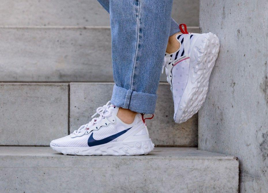Nike Wmns React Element 55 PRM *Unité Totale* (White