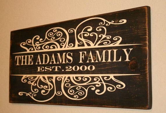 Family Name Sign Family Est Sign Custom Family Wood Sign