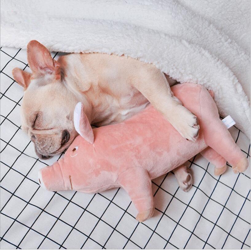 Dog Toy Plush Stuffed Pig Cartoon Toys 3 Sizes