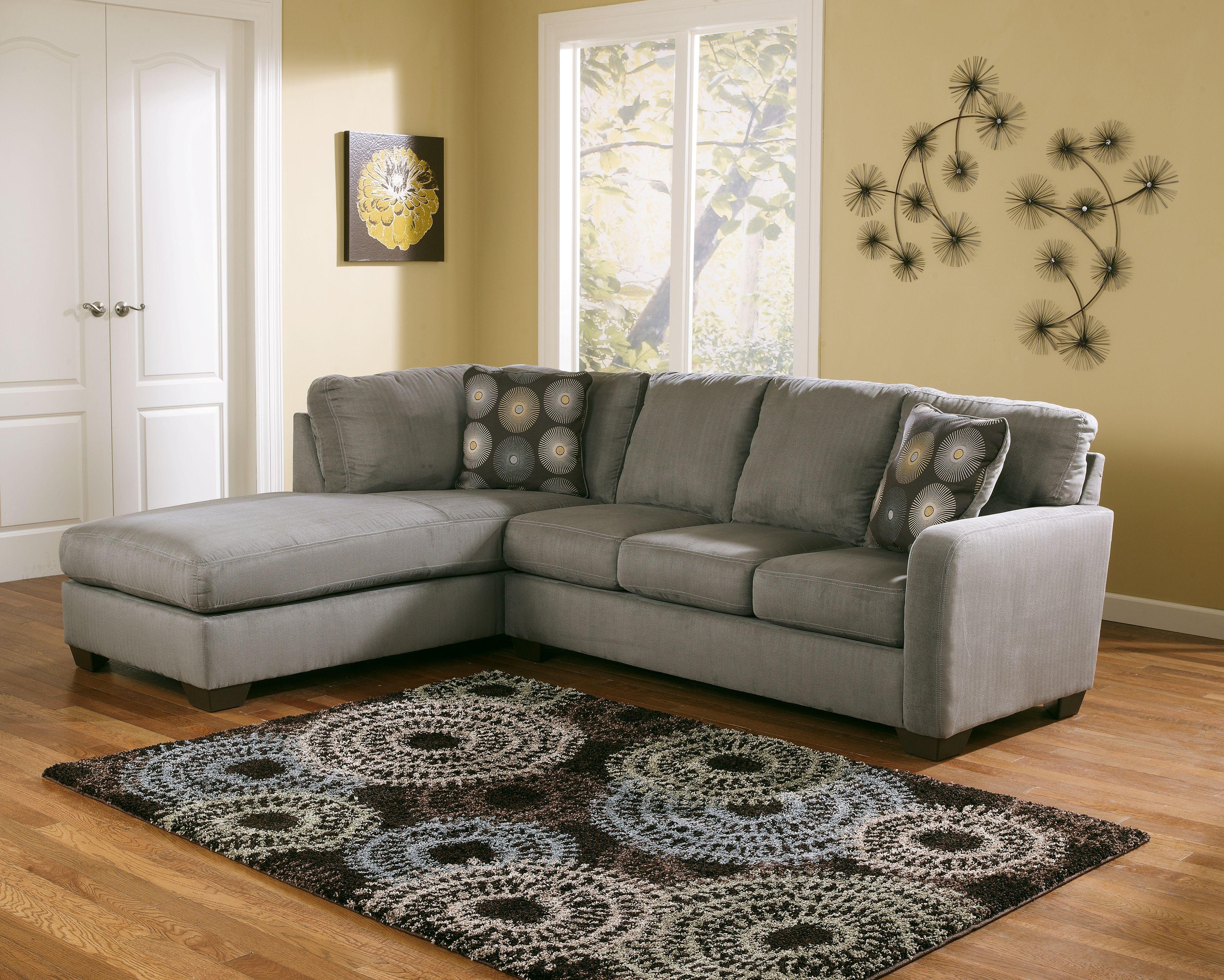 Zella 2-Piece Sectional, Charcoal | Grey sectional sofa ...