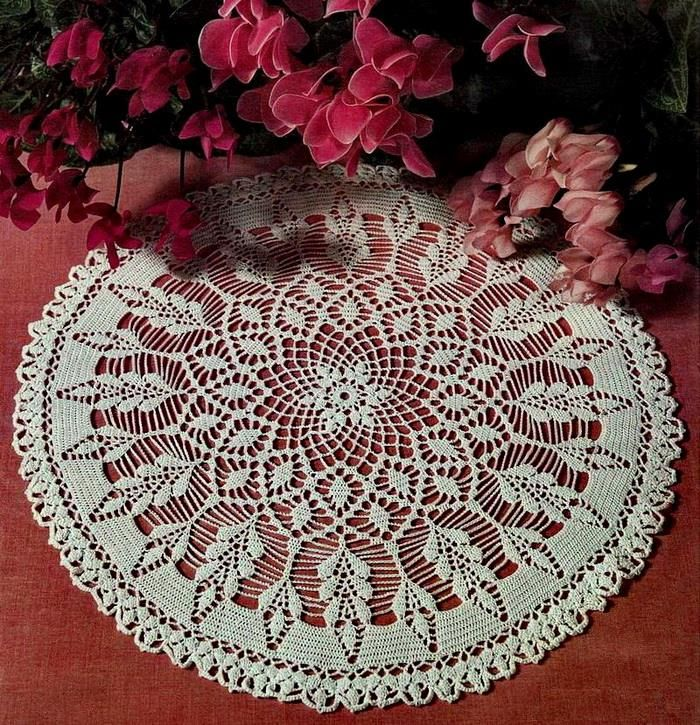 Crochet Pattern Of Beautiful Lace Doily
