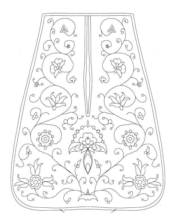 18th-century pocket pattern | Trajes regionales Segovia | Pinterest ...