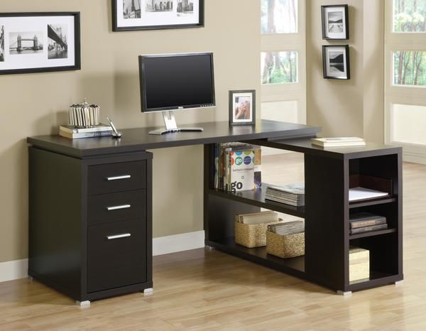 4978c43c645 Ameriwood Home Avalon Cherry  Black Corner Desk