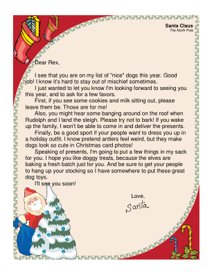 Every Good Dog Should Get This Printable Letter From Santa In
