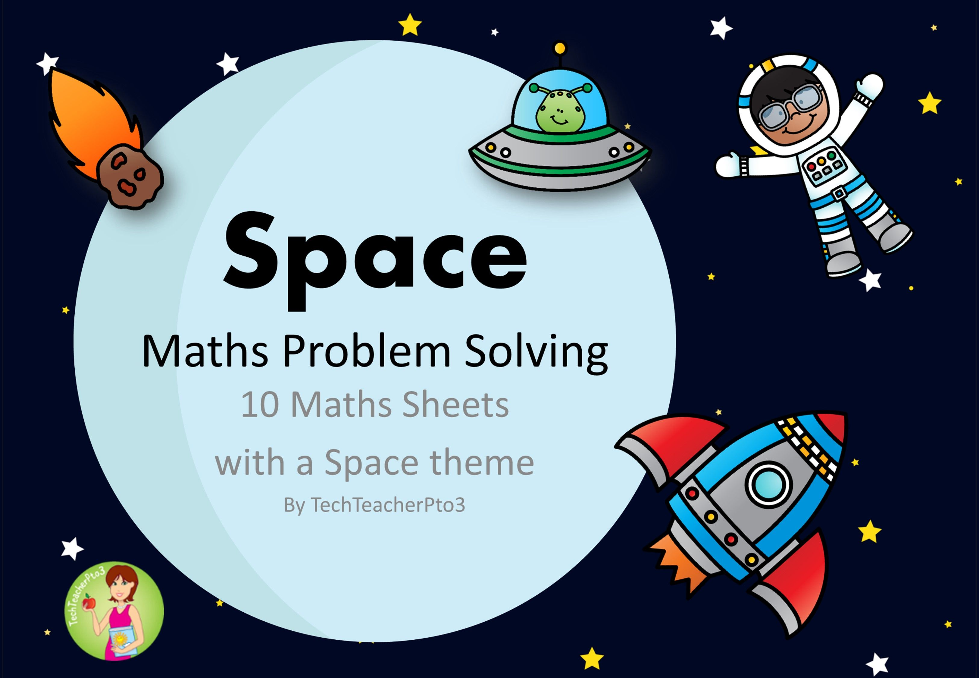 Space Maths Problem Solving Find Pattern Make a Table Part Part ...