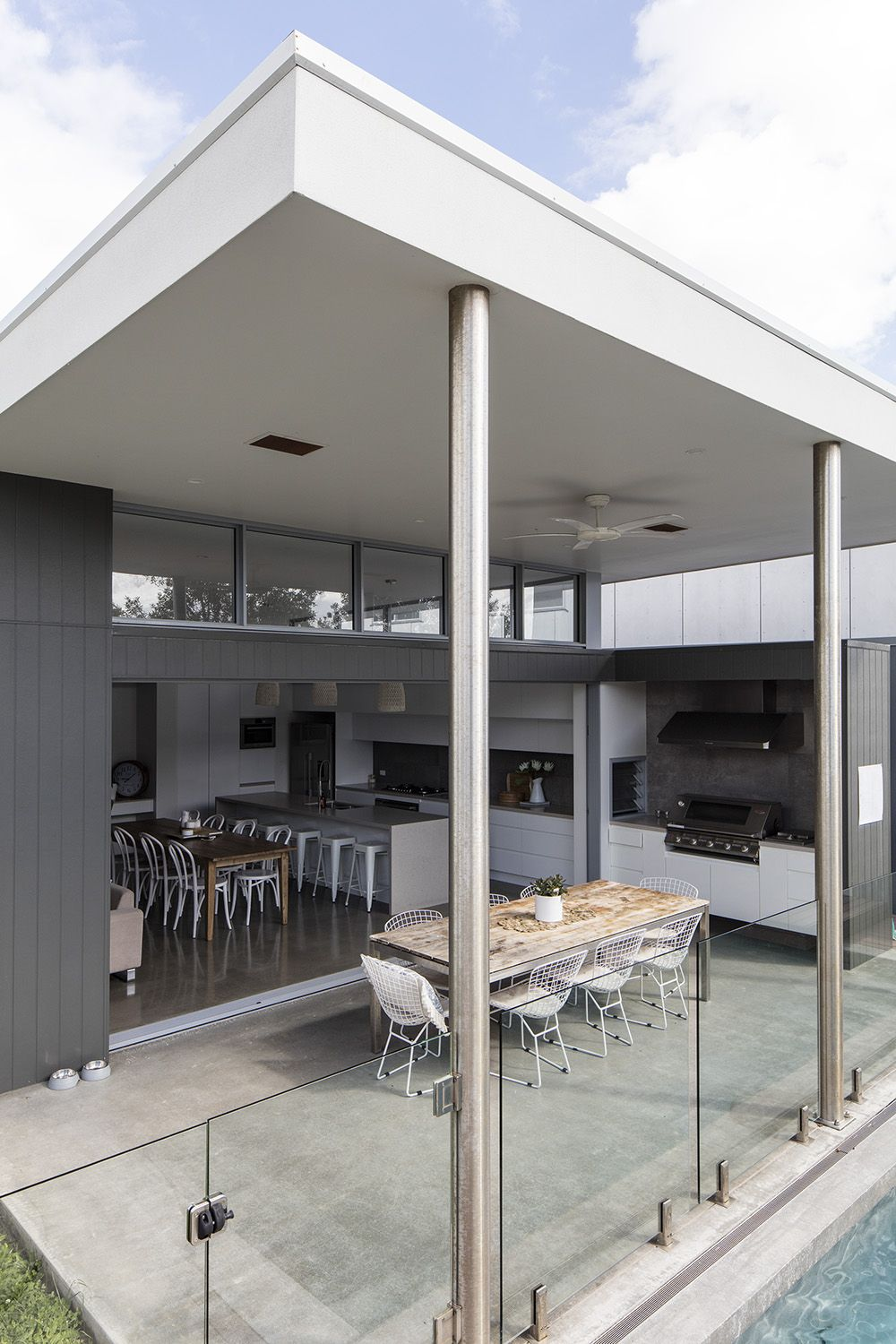 External view of this modern home design by immackulate designer homes the dicky beach project located on sunshine coast qld australia also rh pinterest