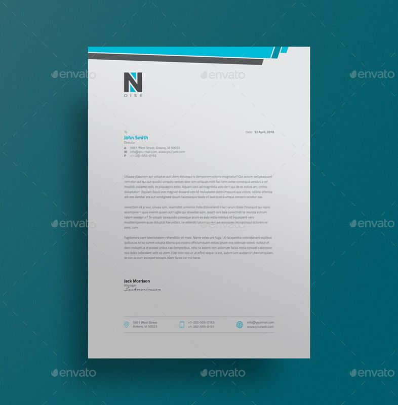 Psd Corporate Letterhead Template 000401: 15+ Creative Professional Letterhead Template Word