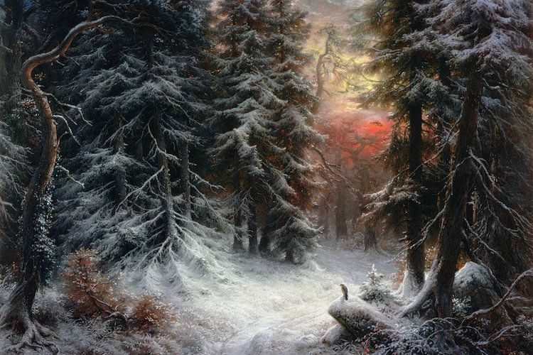 Snow Scene in the Black F… | Carl Friedrich Wilhelm Trautschold | iCanvas