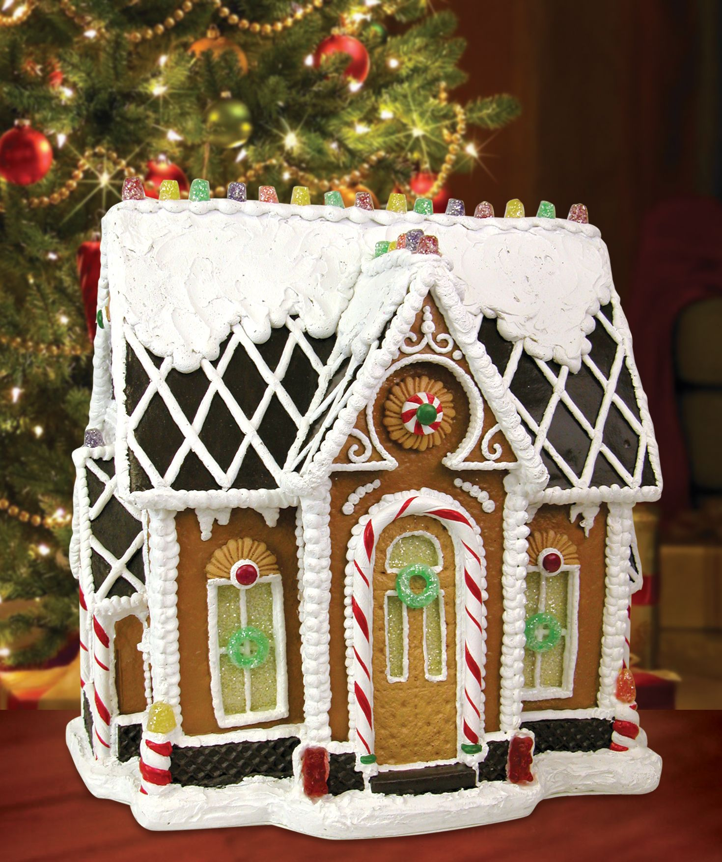 Decoration Ideas Are Christmas Carolers Decorations Needed: Gumdrop Gables Resin Gingerbread
