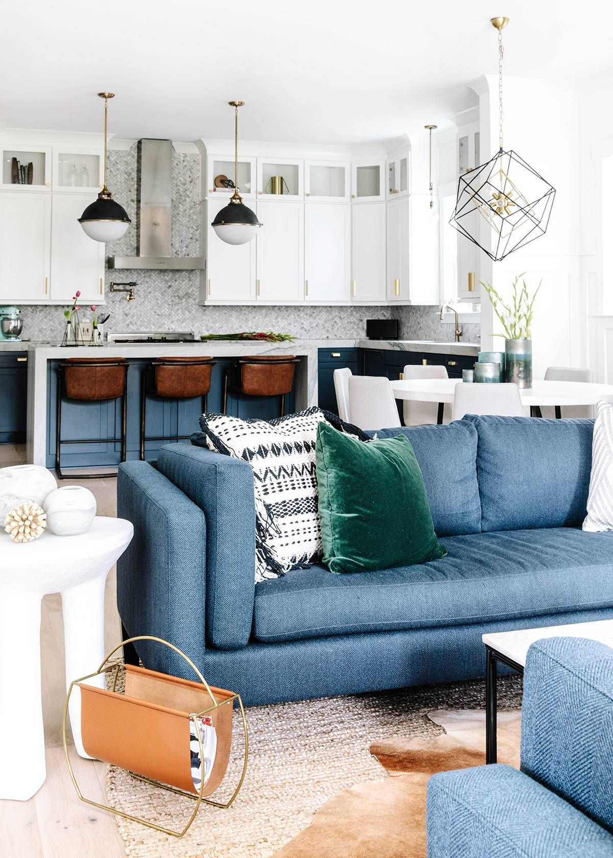 north carolina home tour boasting modern eclectic charm mydomaine also striking blue cabinetry is just the beginning in this quaint rh pinterest