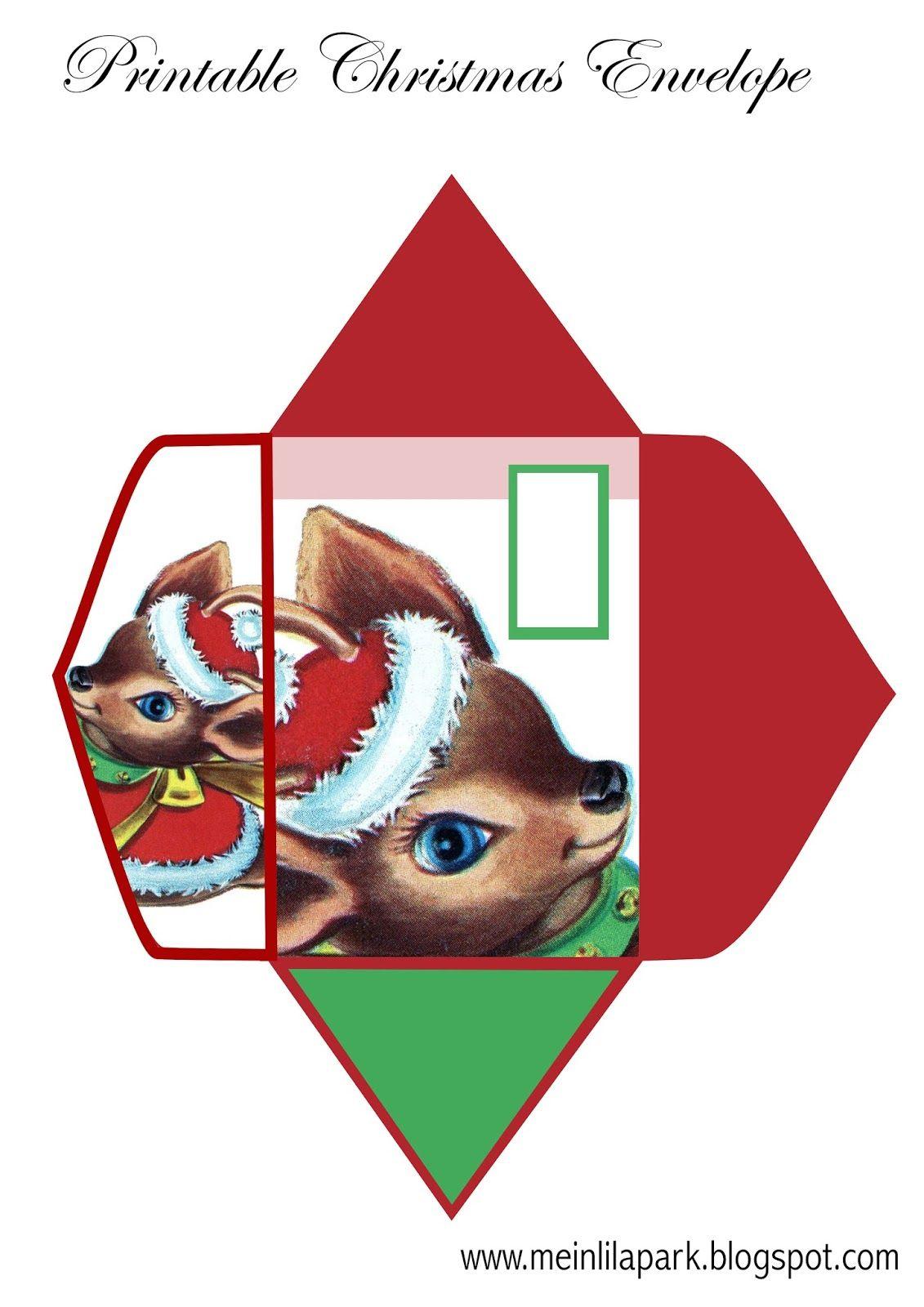 photograph regarding Christmas Envelopes Free Printable identified as Free of charge printable Christmas envelope for young children - ausdruckbarer