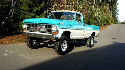 1969 Ford F250 4x4 Highboy Frame Off Restoration Trucks Classic Trucks Ford Pickup Trucks