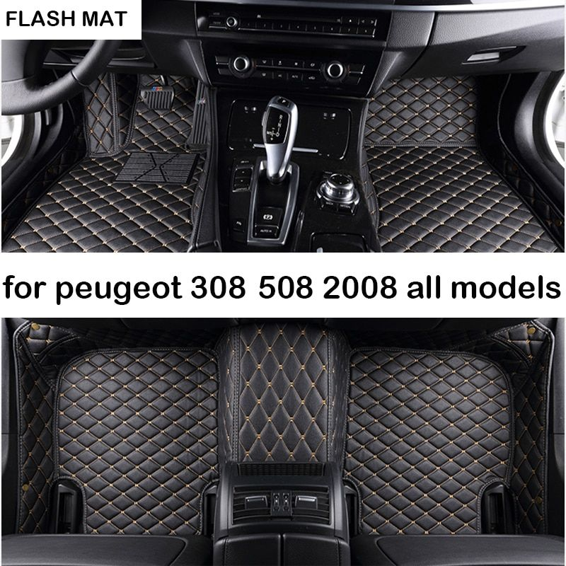 PEUGEOT 508 BLACK /& RED TRIM CAR FLOOR MATS