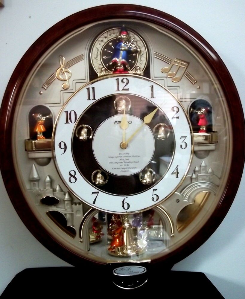 Melodies In Motion Collectible Seiko Wall Clock Beatles Music