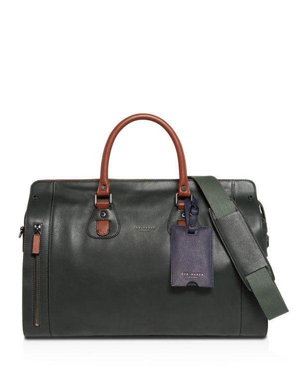 89b64840b785 Ted Baker Megabag Leather Holdall Green Bag