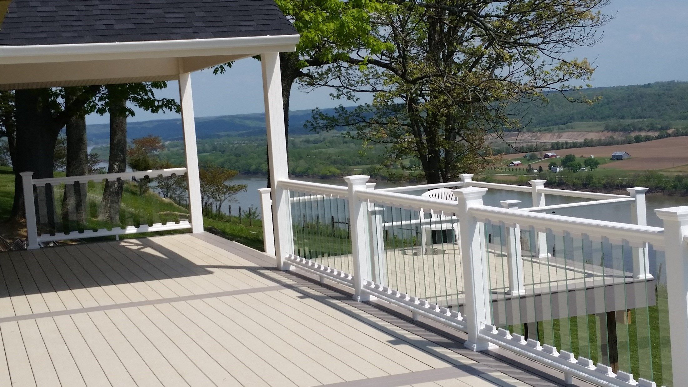 Installing Glass Rails Will Usually Require You To Build The Rail Frame  First And Take Precise · Glass Deck RailingDeck ...