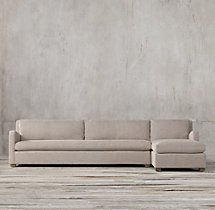 Preconfigured Petite Belgian Slope Arm Upholstered Right Arm Chaise  Sectional
