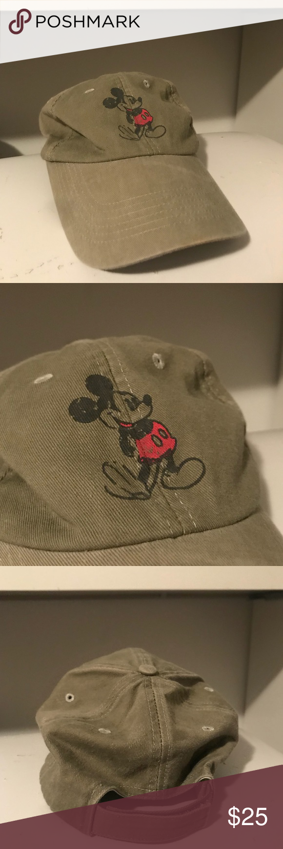 a84ad119970 VINTAGE Green Mickey Mouse Hat This is a VINTAGE green colored Mickey Mouse  hat from Disney