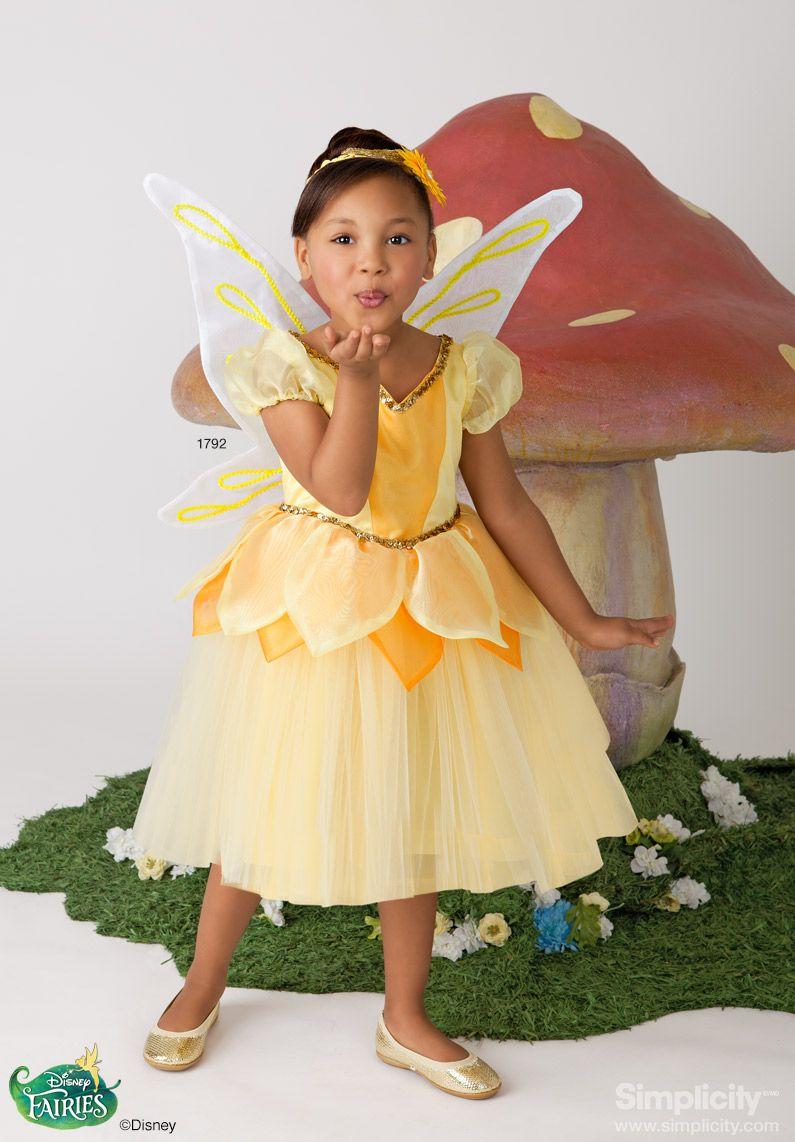 Disney Fairy Iridessa Costume for children and toddlers! #SimplicityPatterns #Halloween