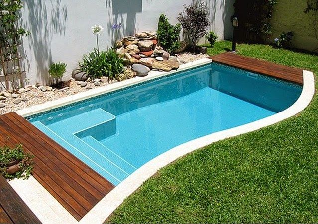 Dise os de piscinas peque as by piscina pinterest dise o de - Piscinas para patios ...