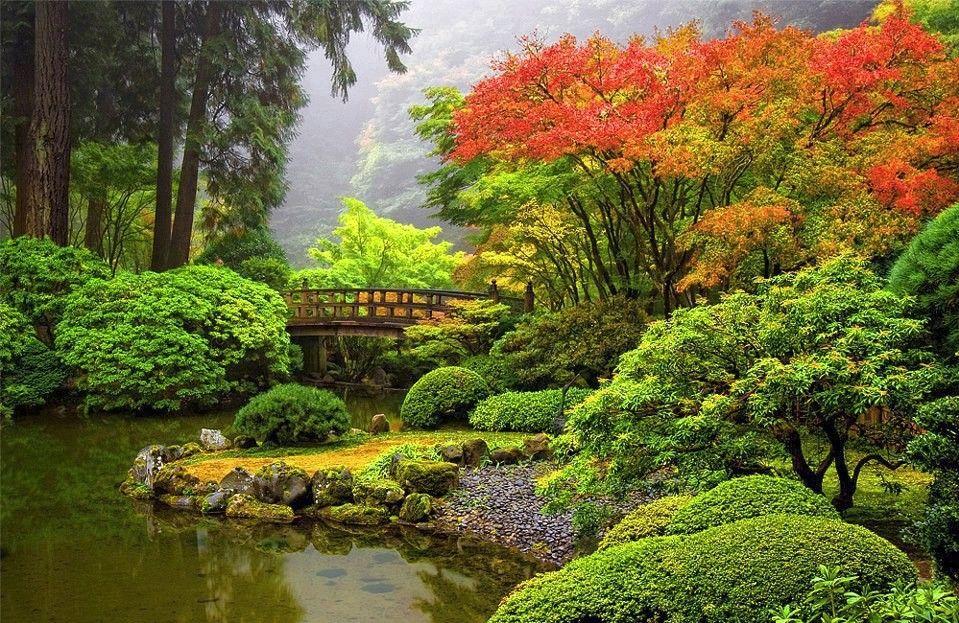 Japanese Garden, Portland, Oregon. Beautiful Mother