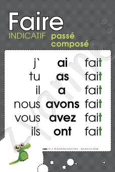 Faire Ind Passe Compose Passe Compose Apprentissage De La Langue Francaise Education Primaire
