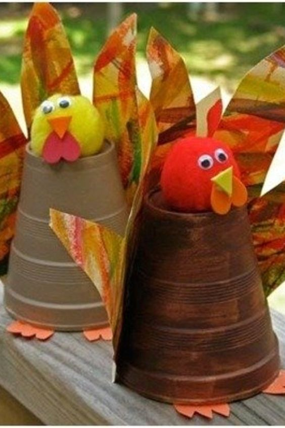 Fall Craft Ideas For Kids Part - 46: Fall Craft Projects For Kids To Make - Fun And Easy Turkey Made With A Solo