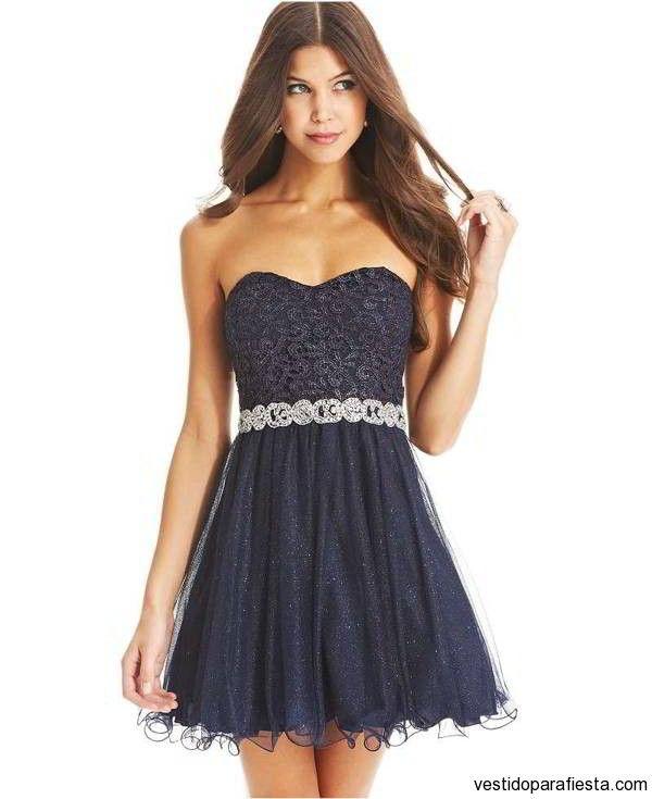 Vestido de fiesta corto strapless