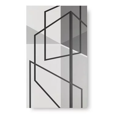Geometric Perspective Wall Art Mitchell Gold Bob Williams In 2020 Interior Wall Design Black And White Painting White Painting
