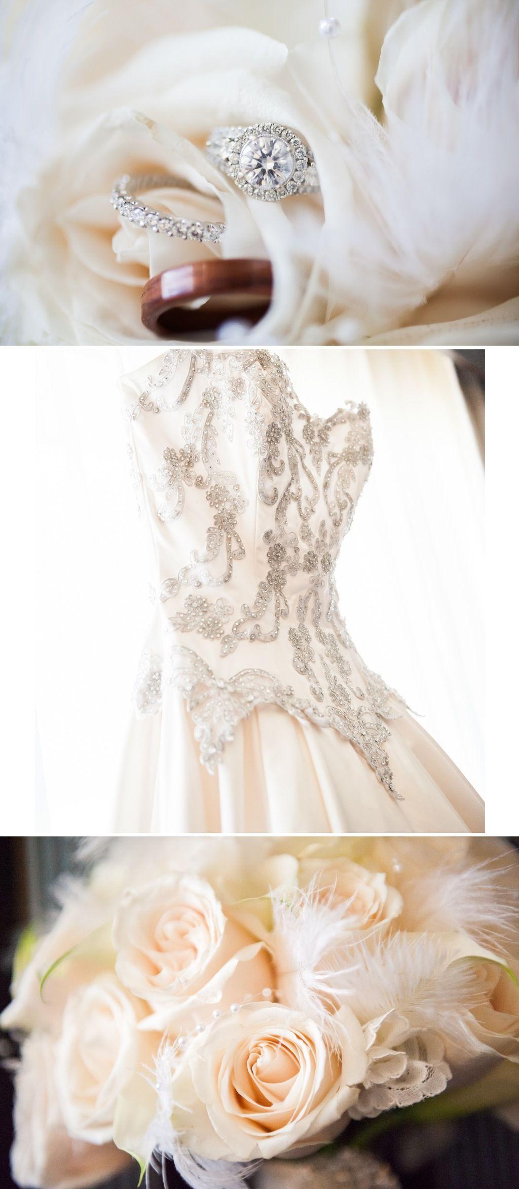 vintage beaded wedding dresses | Vintage-inspired-wedding-in-los-angeles-classic-beaded-wedding-dress-3 ...