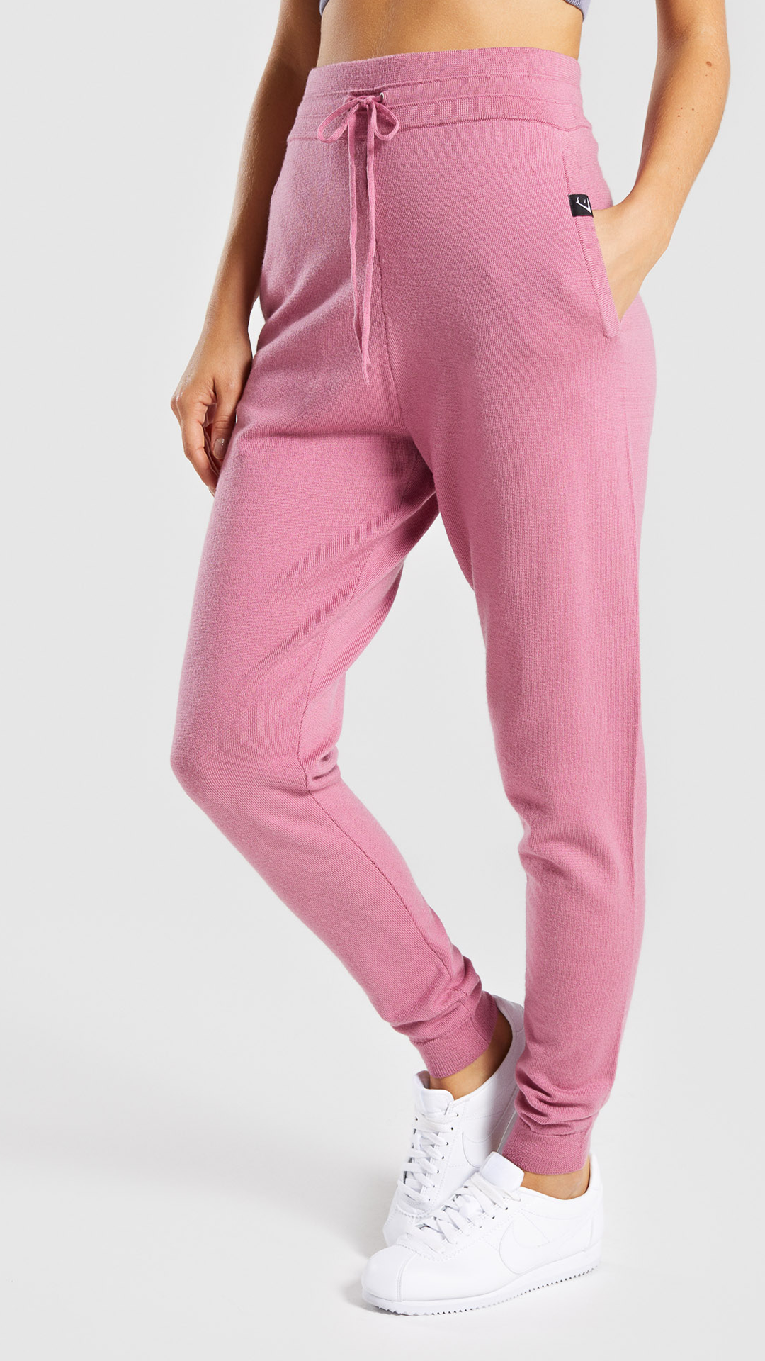 53e325101d020 Isla Knit Joggers, Dusky Pink. Experience a new world of comfort ...