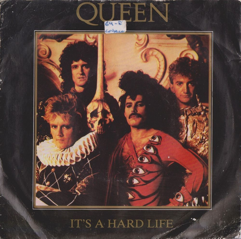 Queen Its A Hard Life 1984 Portugal Rare 7 45 Vinyl Record Rock